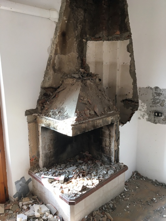 What have they done to our beautiful fireplace?